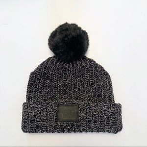 Love your Melon black speckled beanie with Pompom